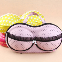 3 colors Hearts underwear storage box covered bra finishing box panties socks travel portable storage box & bra bag #H0215