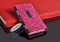 For nokia   lumia920 mobile phone case around open leopard print mount card wallet holsteins +send eight ho ceremony