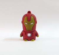 Free shipping Iron man USB Flash drive 2GB 4GB 8GB 16GB 32GB Pen Drive cartoon Thumb pendrive drop shipping