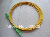 Free Shipping 1pcs apc fiber patch cord SC/APC-SC/APC,Simplex single mode SM 9/125 PVC cable 3.0mm, 15meters