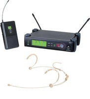 Free Shipping Beige Professional SLX Wireless Headset System for Stages, Churches, Karaoke, etc