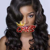New Fashion Body Wave Brazilian Virgin Hair Natural Black In Stock Glueless Lace Front Wigs Free Shipping
