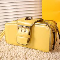 Free Shipping Mushroom mng black women's handbag day clutch shoulder bag vintage purse clutch small bags