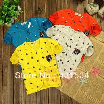 Free shipping / Short-sleeve T-shirt 2013 100% male summer cotton t-shirt vest infant t shirt