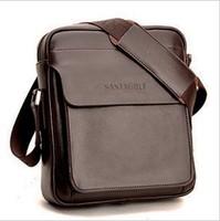 New Fashion  genuine cowhide leather men shoulder bag vertical messenger bag  casual  man business bag free shipping