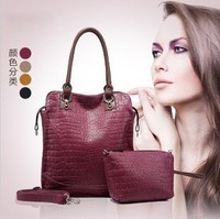 Weidipolo 2013 Fashion Luxury Women's Crocodile Pattern Shoulder Handbag Designer Snakeskin OL Lady Women Tote Bag