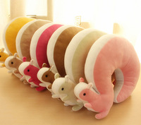 New arrival cartoon squirrel neck pillow car pillow sierran neck pillow