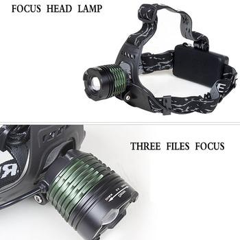 CREE XM-L XML T6 LED Zoomable Headlamp 3-Mode Adjustable Headlight real 800Lum