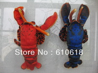 Free Shipping 2Pcs/Lot 2 Colors Lobster Stuffed Plush Glass Sucker Toys Children Promotions Gifts Car Home Decor Toys