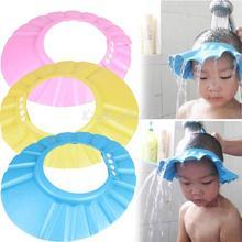 ajustable conveniente bebé niños niño champú baño ducha tapa sombrero k5bo lavar el cabello escudo(China (Mainland))