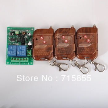315/433.92MHz DC12V 2CH RF Wireless Remote Control Switch Controllers & Rceiver Modules 2 Relays