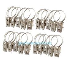 20 pcs de aço inoxidável janela cortina de chuveiro Rod clipes anéis Drapery clipes # 1jt(China (Mainland))