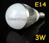 Best price 100pcs/lot,AC85V-265V 3W E14 LED Light Bulb Lamp White/Warm White DHL EMS  Free Shipping