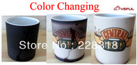 New Quality Central Perk Ceramic Coffee Mug Six Friends R-C-J-M-R-P-Color Change---Loveful