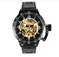2013 men's  genuine leather watchband   watches   cutout or01421 waterproof
