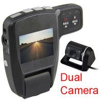 2.0 inch LCD Dual Camera Lens HD 720P Car DVR Camera G-sensor Vehicle Video Camcorder black box 5.0 MP lens New