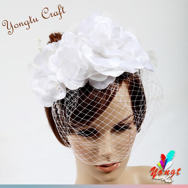 EMS free 2015 sinamay flower fascinator hair accessory feather sinamay base bridal mini hat for wedding party 41(China (Mainland))