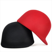Hat female autumn and winter equestrian cap male knight cap dome wool fedoras jazz hat beret