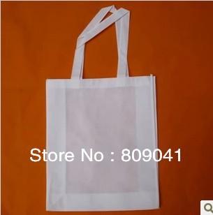 33*26CM White Sublimation Tote Shoulder Shopping Bag Printable 100pcs/lot DHL free shipping(China (Mainland))