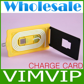20Pcs/Lot New Thickness Charge Card with Micro 5 pin to USB Adapter for Samsung Galaxy Series+Wholesale