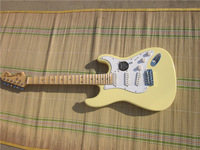 100% New  yngwie malmstein  startcaster  electric gutiar cream color with scalloped neck
