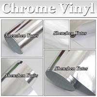 Mirror Chrome Vinyl Wrap Silver Car Sticker Size 98ft x 4.98ft