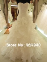 2013 New ArriveHot Sale  A-Line Noble with Tiered Sweetheart Lace Up Garden/Outdoor Wedding Dress,Custom!!!