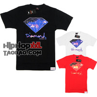 Hip Hop Jewelry Diamond diamond short-sleeve T-shirt hiphop hip-hop hiphop tee fashion west coast
