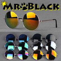 Fashion vintage 2013 circle star style sunglasses reflectorised multicolour sunglasses lens metal