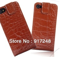 Free shipping! High Quality Luxury Leather Phone Shell  Wallet Card Case Different Colors for the iPhone 5 5G