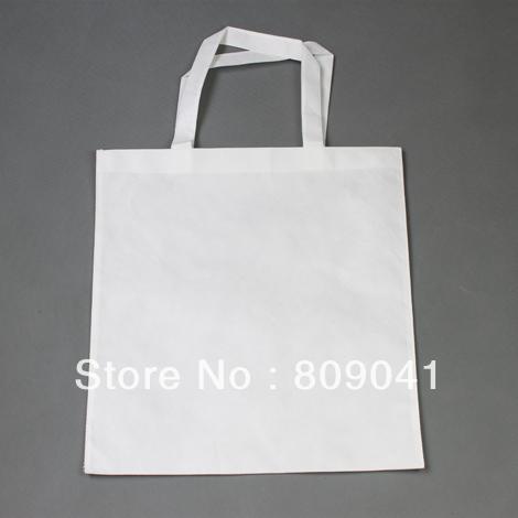 38*40CM White Sublimation Tote Shoulder Shopping Bag Printable 500pcs/lot DHL /fedex free shipping(China (Mainland))