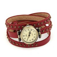 Hip Hop Jewelry Fashion all-match retro rivet finishing leather strap watch bracelet