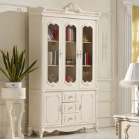 Free Shipping Romantic french furniture fashion bookcase solid wood cabinet bookshelf locker bookcase