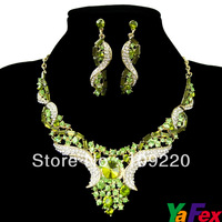 Free Shipping Party Wedding Bridal Bridesmaid Earring Necklace Fashion Jewelry Sets Crystal Rhinestone WA261-4#