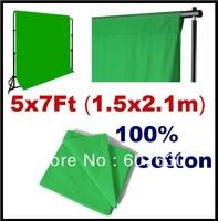Green Screen / Chromakey Backdrop 5x7Ft (1.5x2.1m)  Muslin Video Photo Background