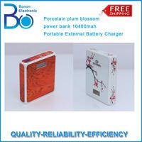 5pcs/lot ,New brand X802 Porcelain plum blossom power bank 8800mah Portable External Battery Charger HK POST SHIPPING FREE