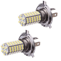 Hot Saling 2X NEW PROMOTION Car 120 LED 3528 SMD H4 White Fog Driving Parking Light Headlight Lamp Bulb