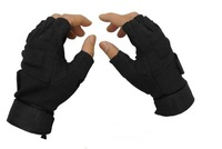 2013 New Black/Green/Yellow Tactical Airsoft Adjustable Fingerless Gloves Outdoor Hunting Cycling Gloves Free Shipping