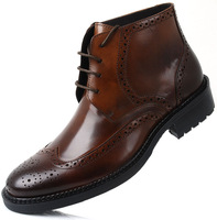 new arrival Recommended slangwell ultra-chic leather lace models mens boots comfortable dress men ankle boots brown shoe boot