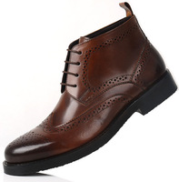 2013 luxurious lace up oxford heels  the popular men's lace-up leather sandal boots brown men's comfortable leather shorts boot