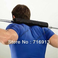 New Arrival ! Barbell Pad Gym Gel exercise Supports Squat Olympic Bar Weight Lifting Pull Up Gripper Support Black TK0861