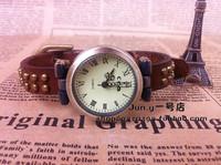 Best Rivet punk bracelet strap fashion vintage short strap watch women's watch