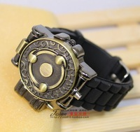 low price Tin watch infrared laser watch naruto write round eyes relief flip laser sheet