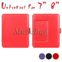 Free shipping universal for 7inch 8inch Leather rubber magic keyboard case with standard for USB Micro connect