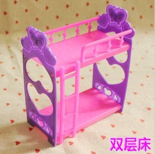 Free shipping girl birthday gift Doll accessoryPrincess bunk bed For Barbie Dolls Toy hot sale BBWWPJ0008