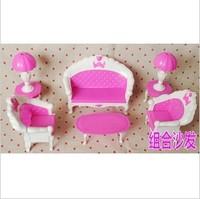 Free shipping girl birthday gift Doll accessory Combination Sofa For Barbie Dolls Toy hot sale BBWWPJ0011