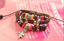 Cupid s Arrow Cupid Valentine s Day gift wedding gifts beaded bracelet leather bracelet LB009