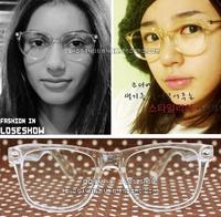 Fashion non-mainstream vintage big box eye rack male Women decoration glasses crystal full transparent box eyeglasses frame