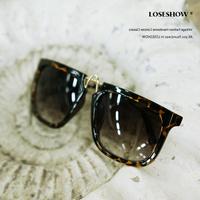Women's sunglasses rubric fashion vintage sunglasses 2013 big box leopard print square