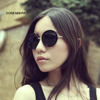 Vintage circle vintage sunglasses Women round box sun glasses sunglasses